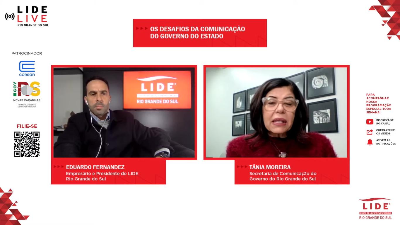 LIDE Live: Secretária do governo estadual gaúcho fala sobre os desafios na comunicação