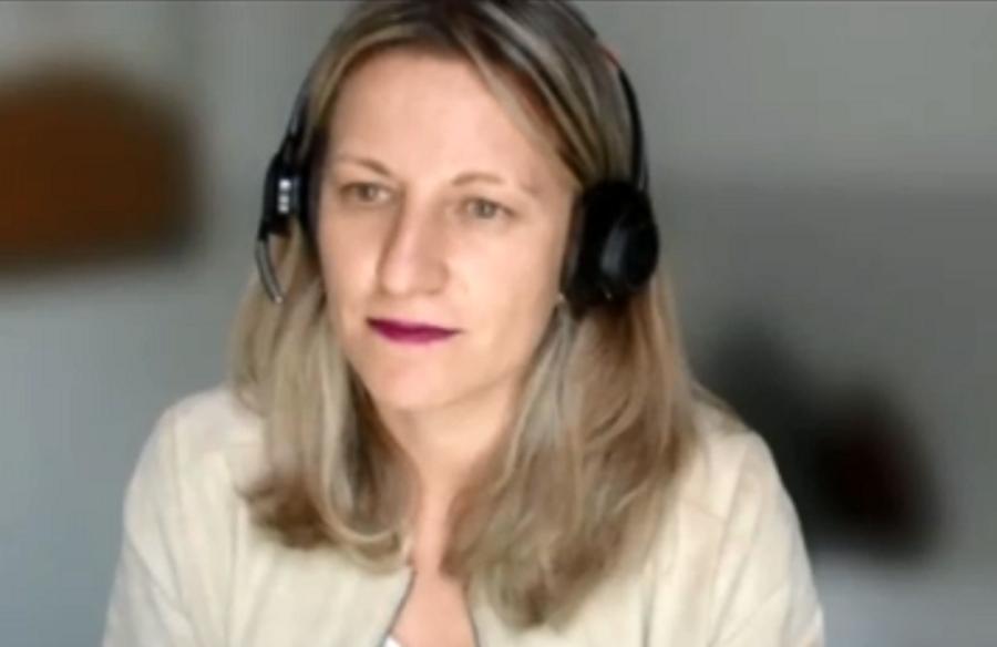 Marta Díez, da Pfizer: saúde funciona como ponto de equilíbrio para a economia
